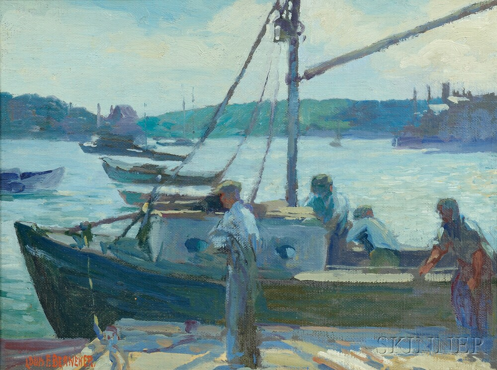 Louis Frederick Berneker (American, 1876-1937)      Preparing to Sail