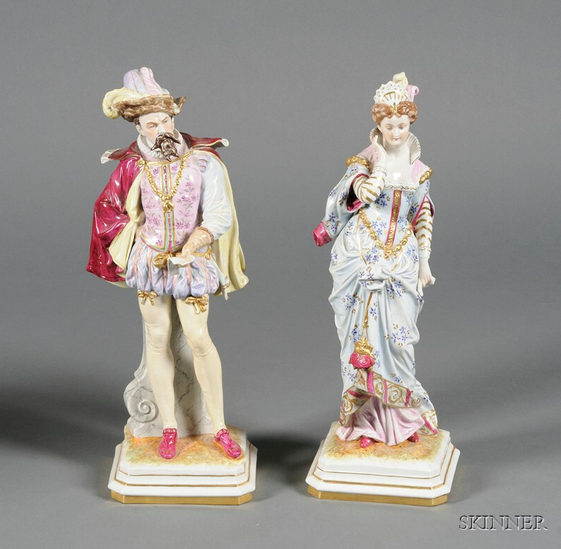 Pair of German Porcelain Figures of a Lady and Gentleman