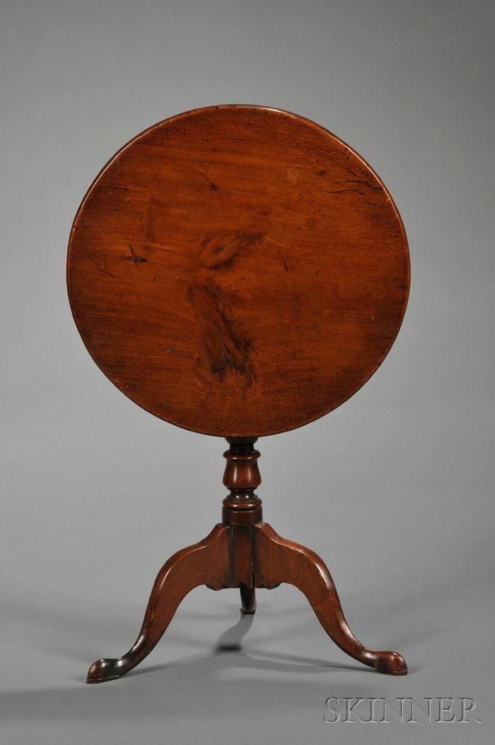 George III Mahogany Miniature Tilt-top Tripod Table