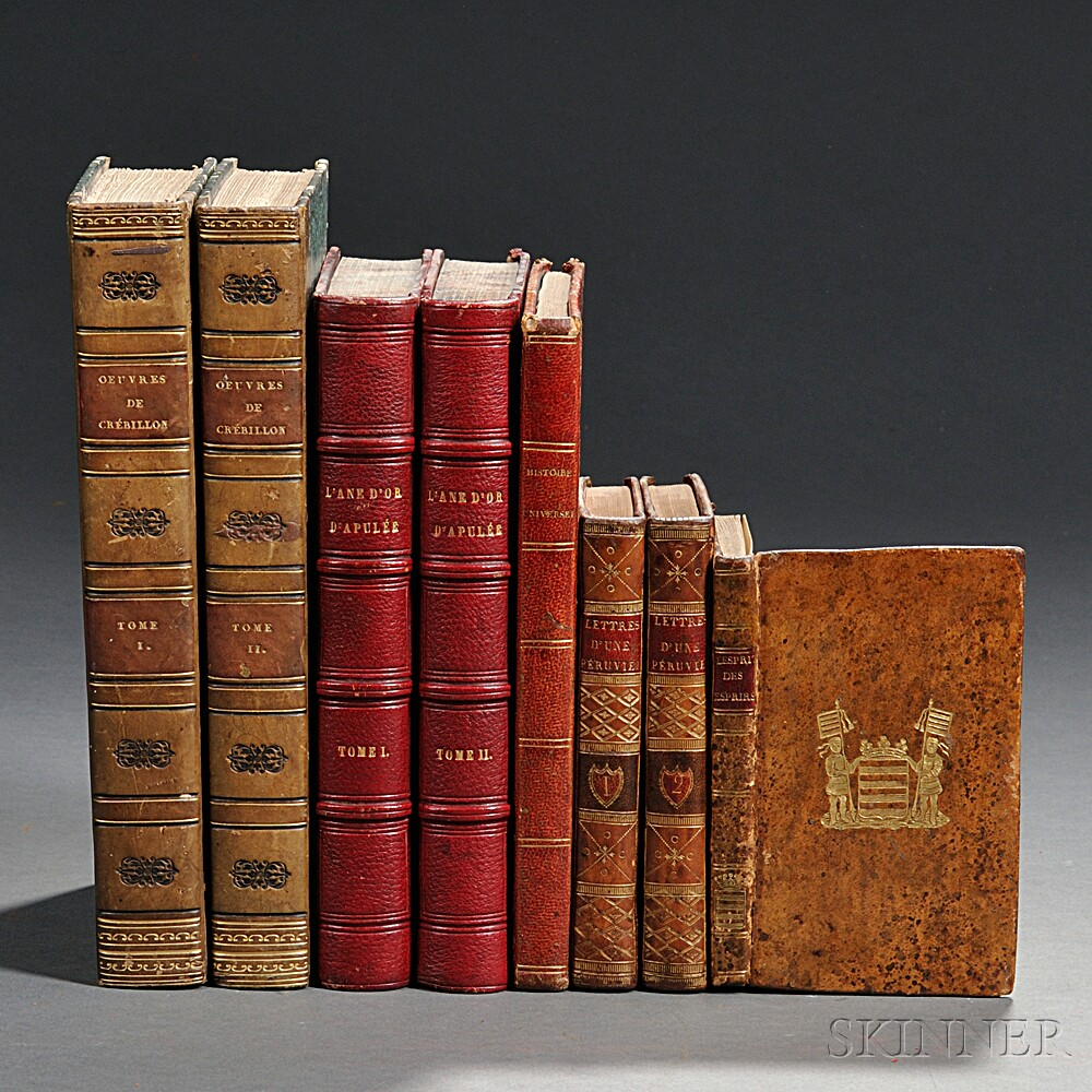 French Imprints, Five Titles in Eight Volumes, 1784-1818.