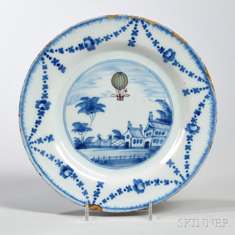 Tin-glazed Earthenware Ballooning Dish