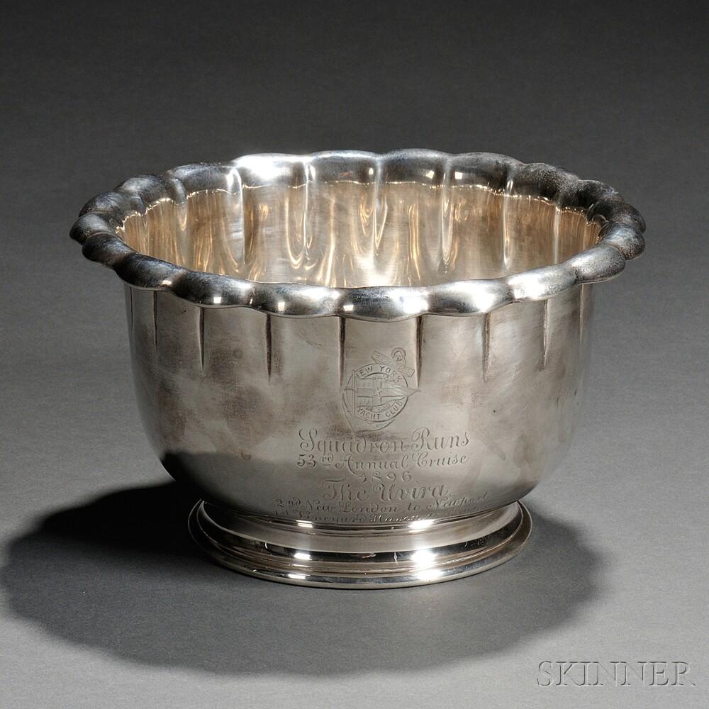 Tiffany & Co. Sterling Silver New York Yacht Club Trophy Bowl