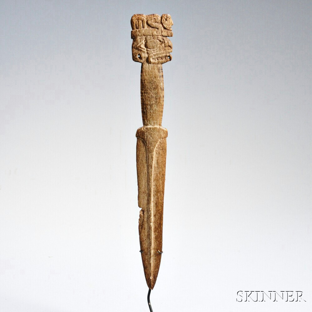 Northwest Coast Carved Whale Bone Dagger Sale Number 2862b Lot Number 228 Skinner Auctioneers