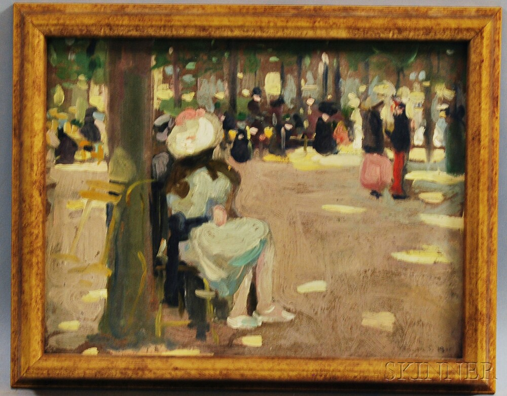 Ida Sedgwick Proper (American, 1873-1957)      Urban Park View