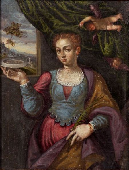 Manner of the Venetian School, 16th Century Style    Saint Lucy