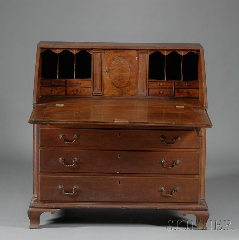 Chippendale Walnut Slant-lid Desk