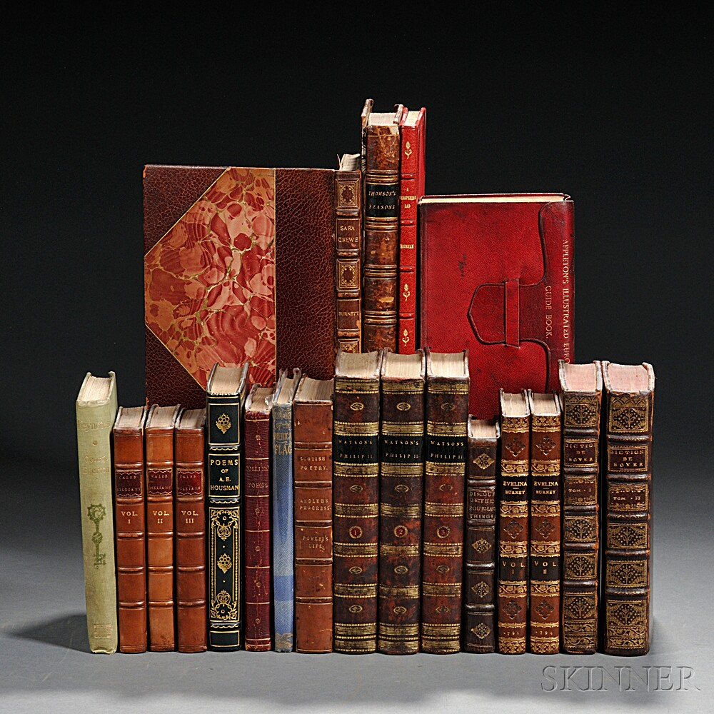 Decorative Bindings, English Literature, Twenty Volumes.