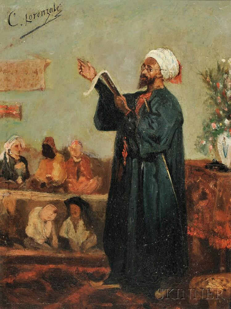 Claudio Lorenzale (Spanish, 1815-1884)      The Lesson