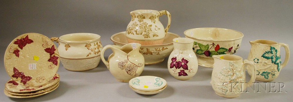 Fourteen Pieces of Assorted Avalon Faience Ceramics