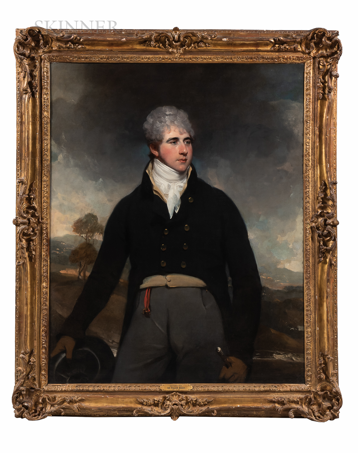 Sir William Beechey (British, 1753-1839)      Portrait of a Young Man in a Landscape, Possibly Sir Harry Neal