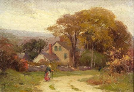 Mabel May Woodward (American, 1877-1945)    Country Lane