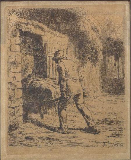 Jean François Millet (French, 1814-1875)    Le Paysan Rentrant du Fumier