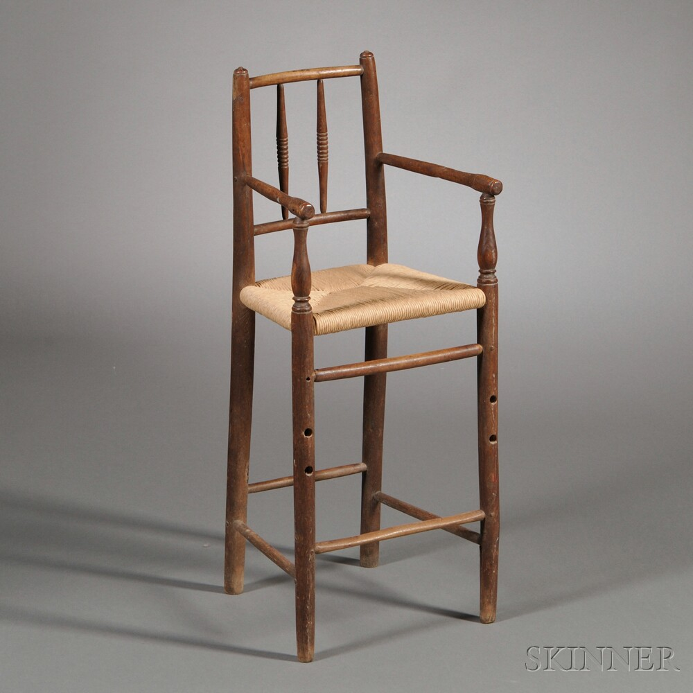 Turned Hickory High Chair