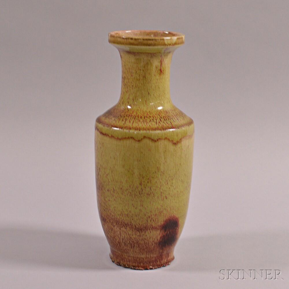 Flambe-glazed Rouleau Vase