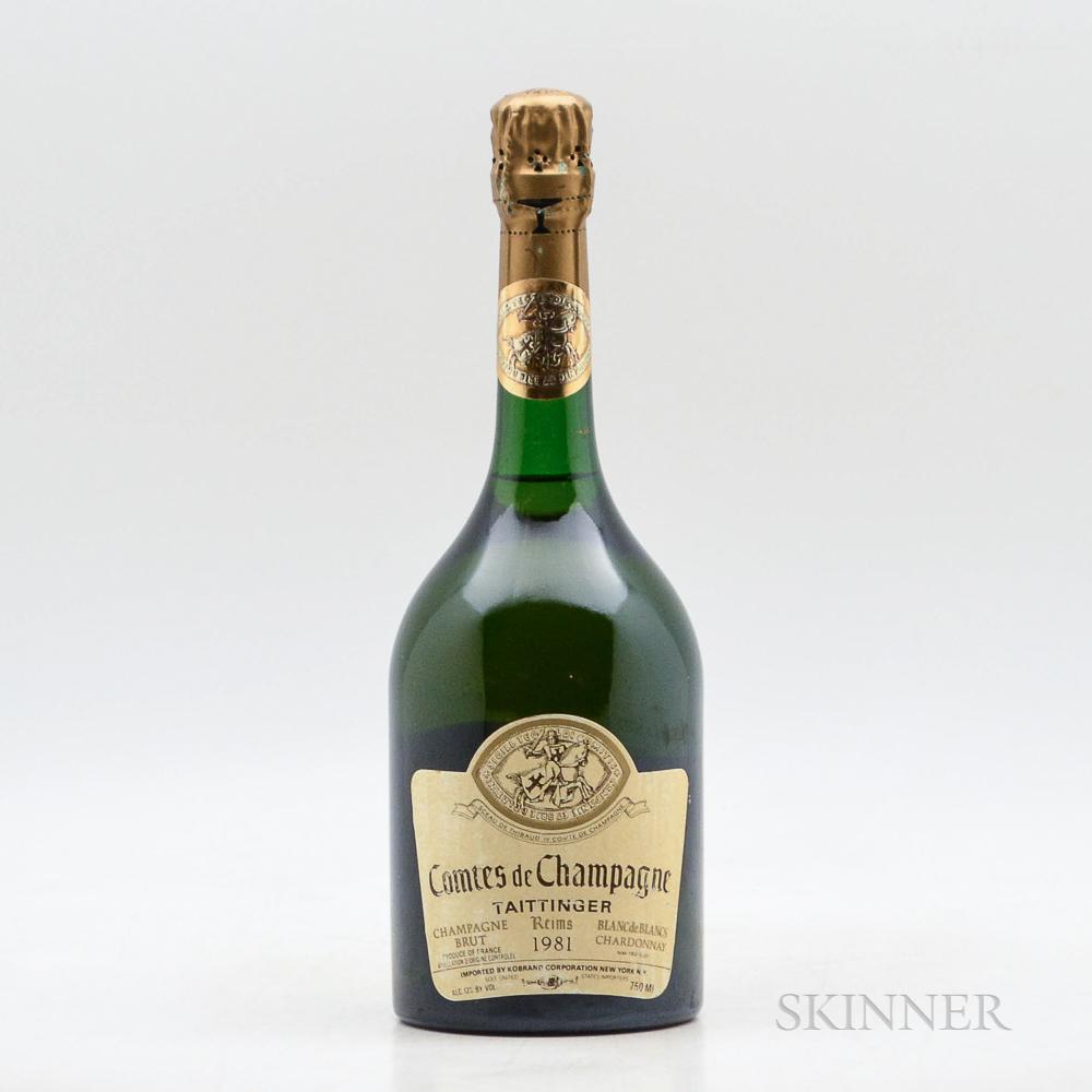 Taittinger Comtes de Champagne 1981, 1 bottle