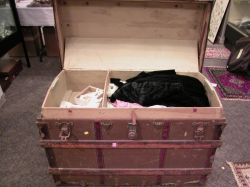 Trunk Lot of Late 19th and 20th Century Clothing, Wedding Gowns and Miscellaneous Accessories.