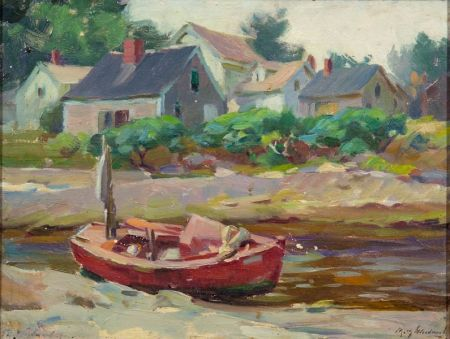 Mabel May Woodward (American, 1877-1945)    Red Boat