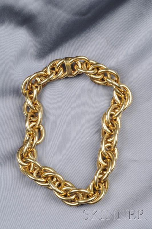 18kt Gold Fancy Link Necklace