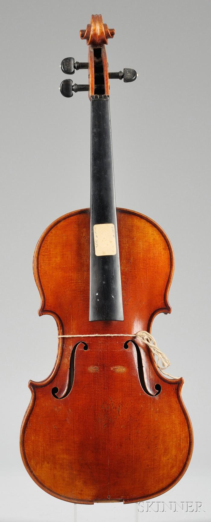 Markneukirchen Violin, Wilhelm Durrschmidt, c. 1950