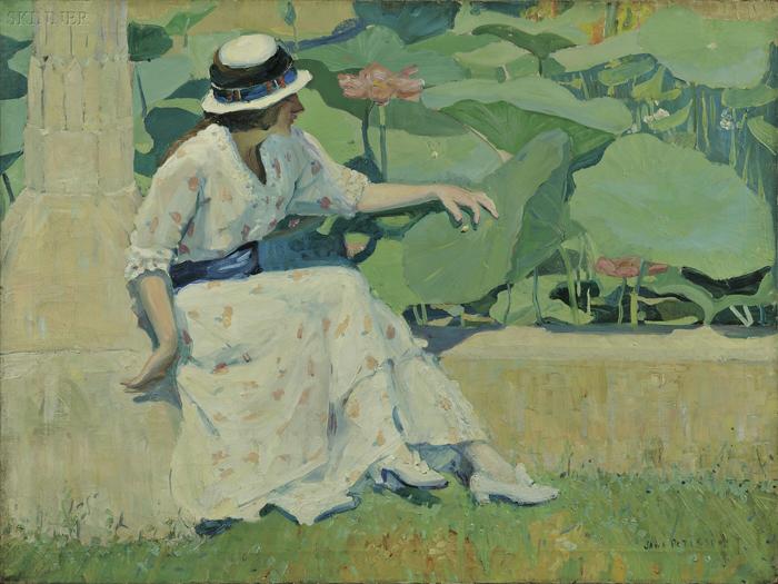 Jane Peterson (American, 1876-1965)      Lotus Flower