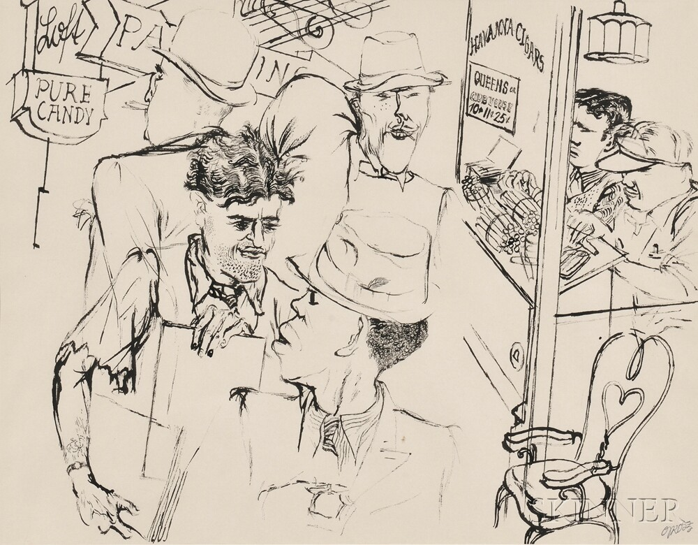 George Grosz (German/American, 1893-1959)      Havana Cigars