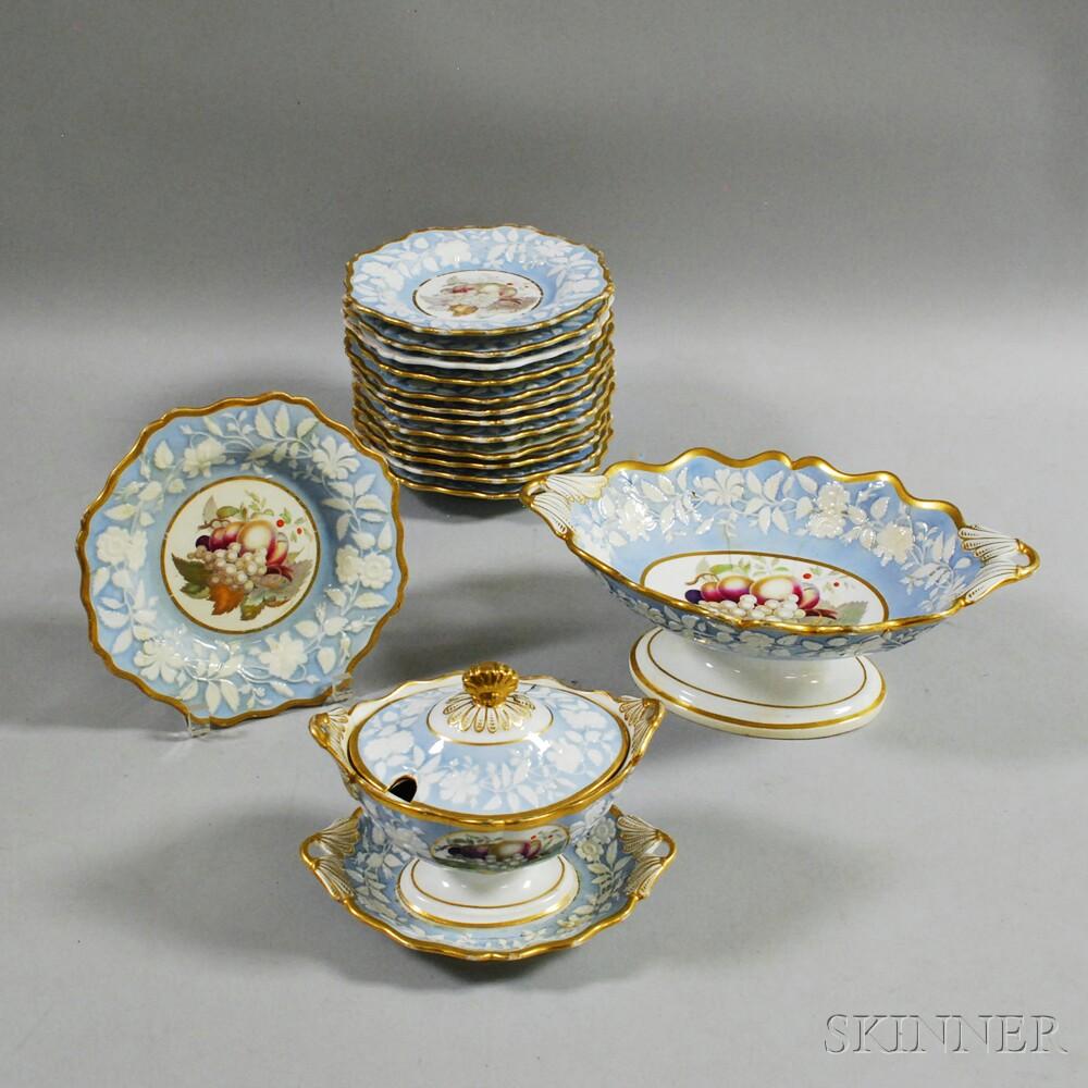 Fifteen English Ceramic Tableware Items