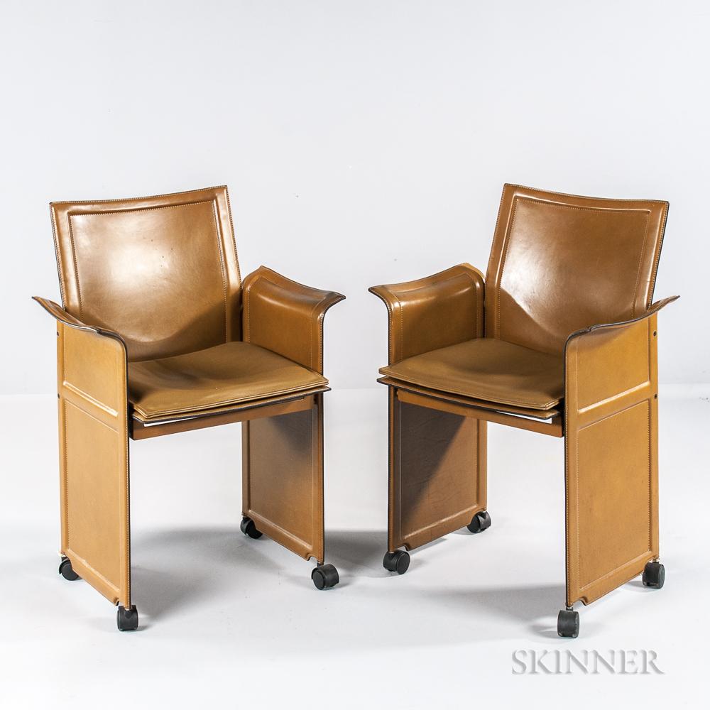 Pair of Korium Armchairs Designed by Tito Agnoli