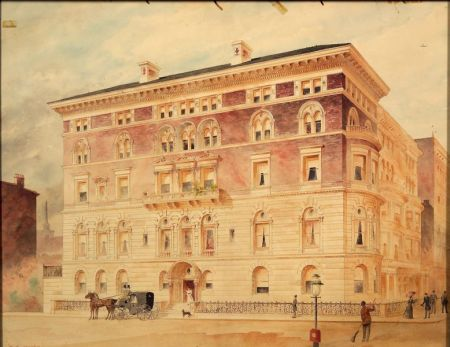 American School, 19th/20th Century    Architectural Rendering of a New York House, 64th Street and Fifth Avenue