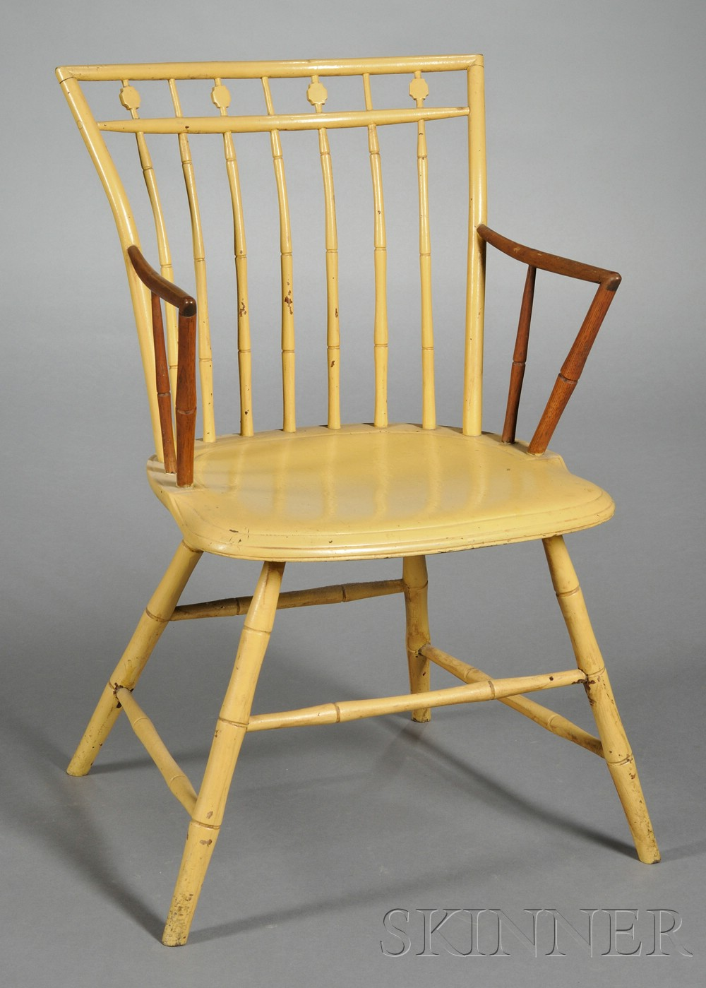 Windsor Bamboo-turned Applied-arm Chair