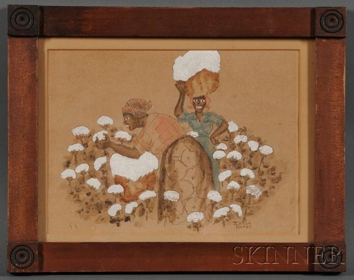 American School, 20th Century      Cotton Picking.