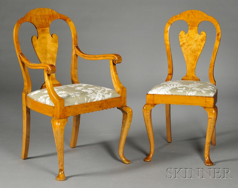 Eight Danish Birchwood Dining Chairs