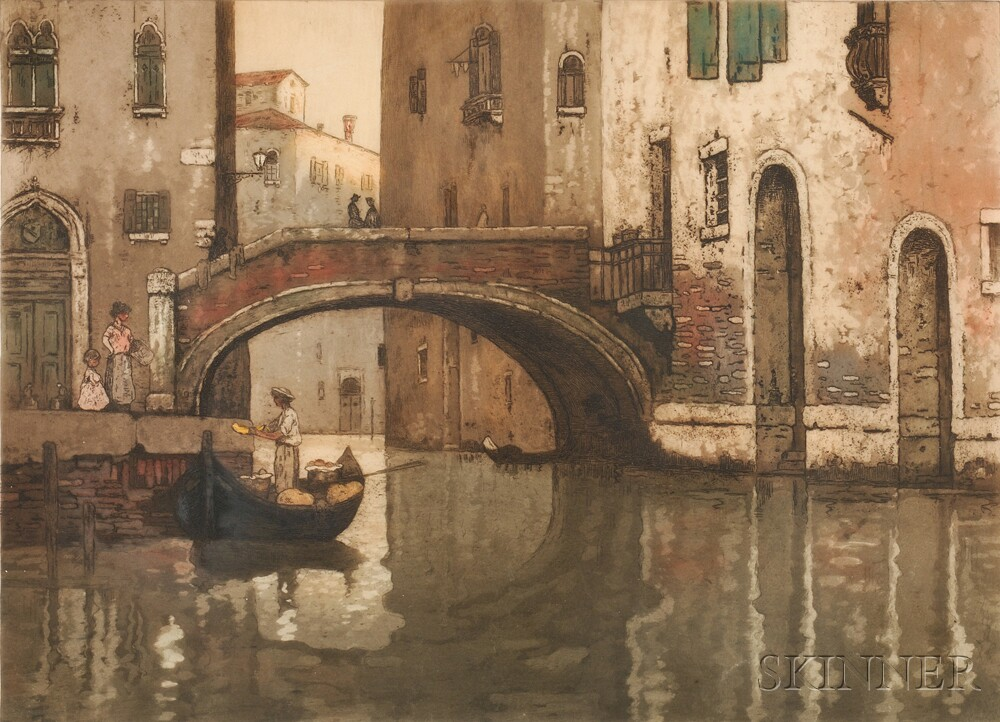 Maurice Bompard (French, 1857-1936)      Quiet Canal.