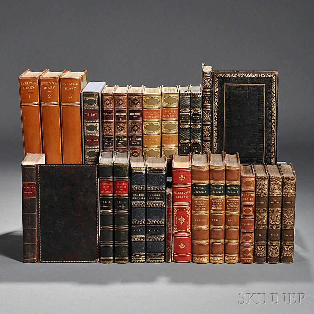 Decorative Bindings, Sets, Fourteen Titles in Twenty-six Volumes.