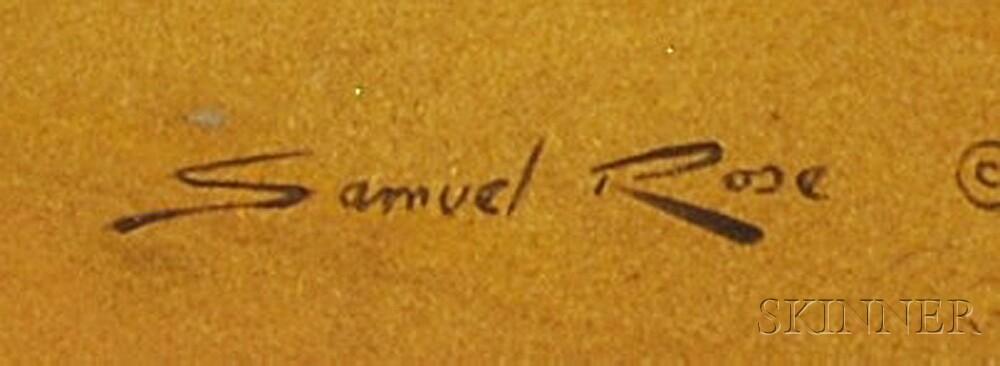 Samuel Rose (American, 1941-2008)      Still Life with a Mandolin.