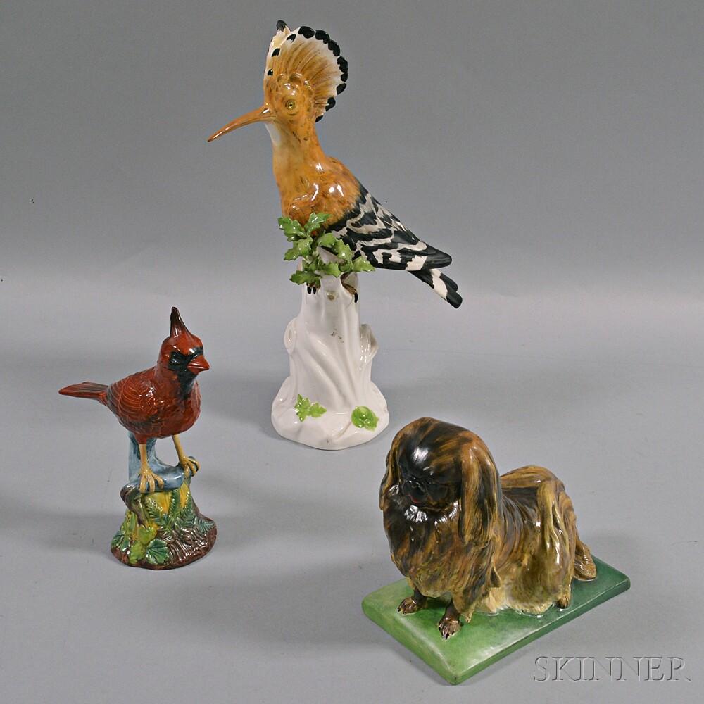 Three Porcelain Animal Figures