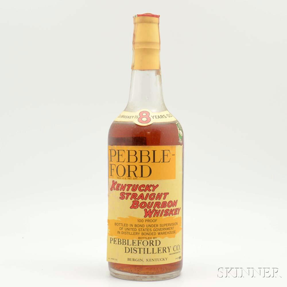 Pebbleford 8 Years Old 1941, 1 4/5 quart bottle