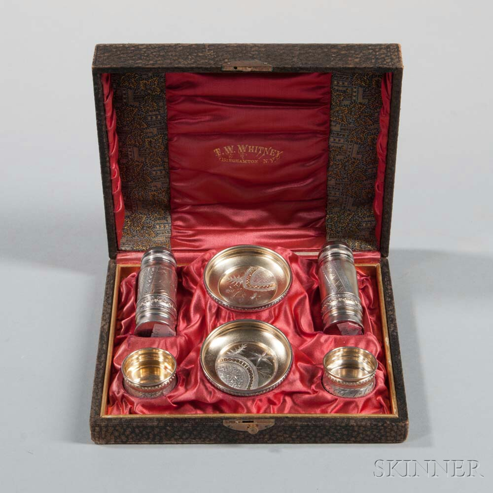 Six-piece Gorham Sterling Silver Condiment Set