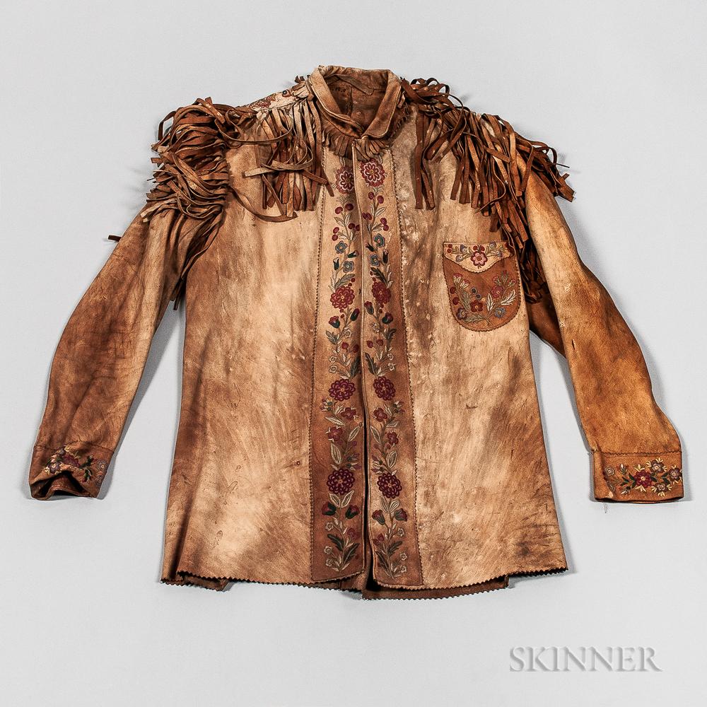 Cree Silk-embroidered Buckskin Jacket