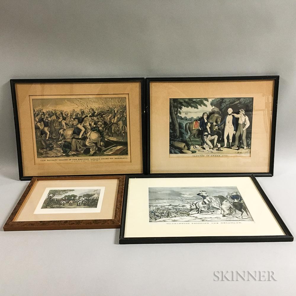 Three Framed Nathaniel Currier Lithographs