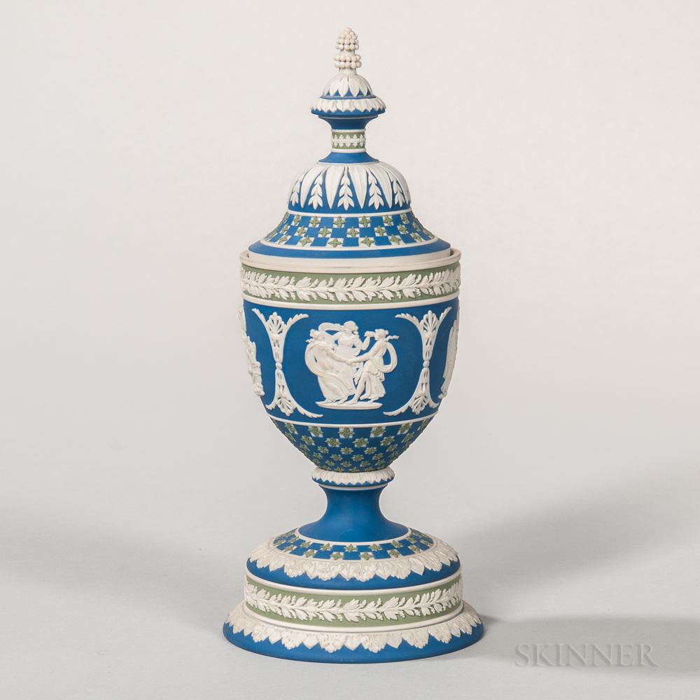 Modern Wedgwood Diceware Jasper Cup and Cover