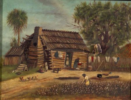 Manner of William Aiken Walker (American, 1838-1921)    Sharecropper's Cabin