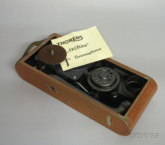 Thorens Excelda Portable Gramophone