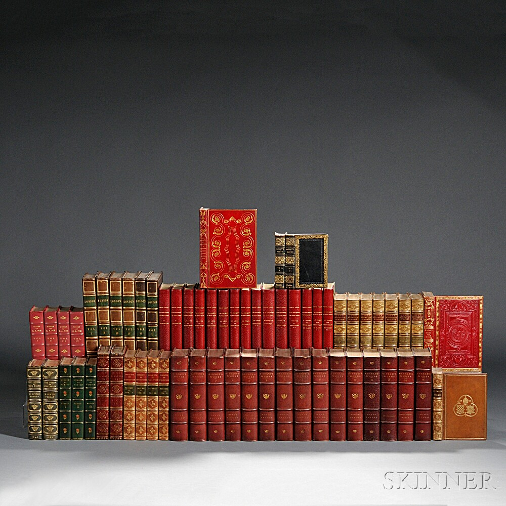 Decorative Bindings, Sets, Thirteen Titles in Sixty-three Volumes.