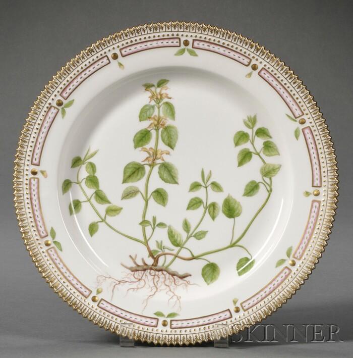 """Royal Copenhagen Porcelain """"Flora Danica"""" Serving Plate"""
