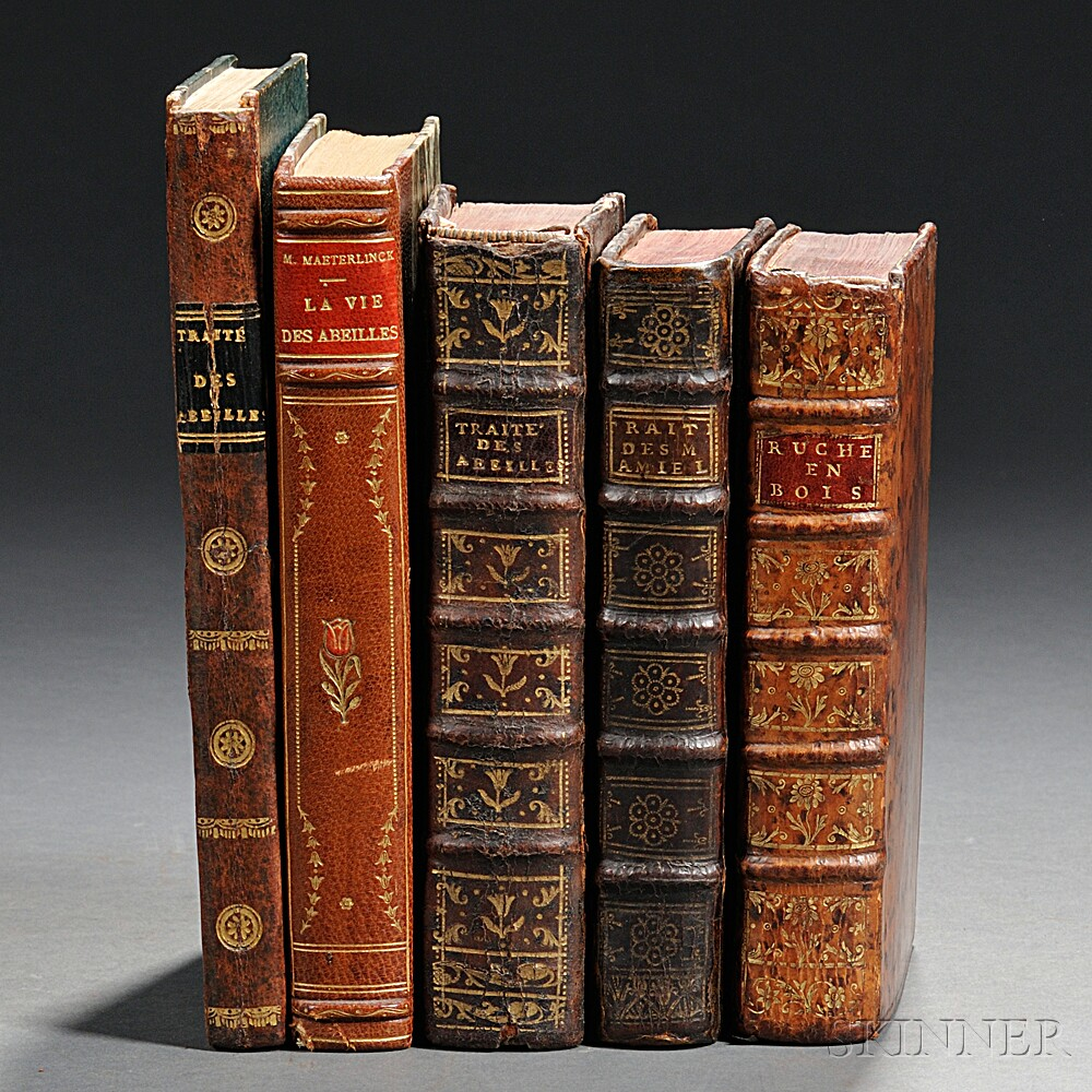 Beekeeping, Five Titles in French, 1740-1928.