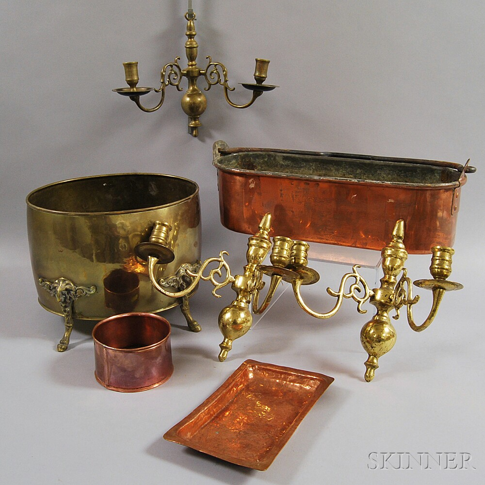 Group of Brass and Copper Items