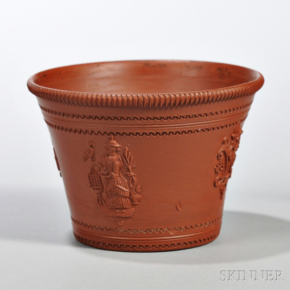 Red Stoneware Cream Pail