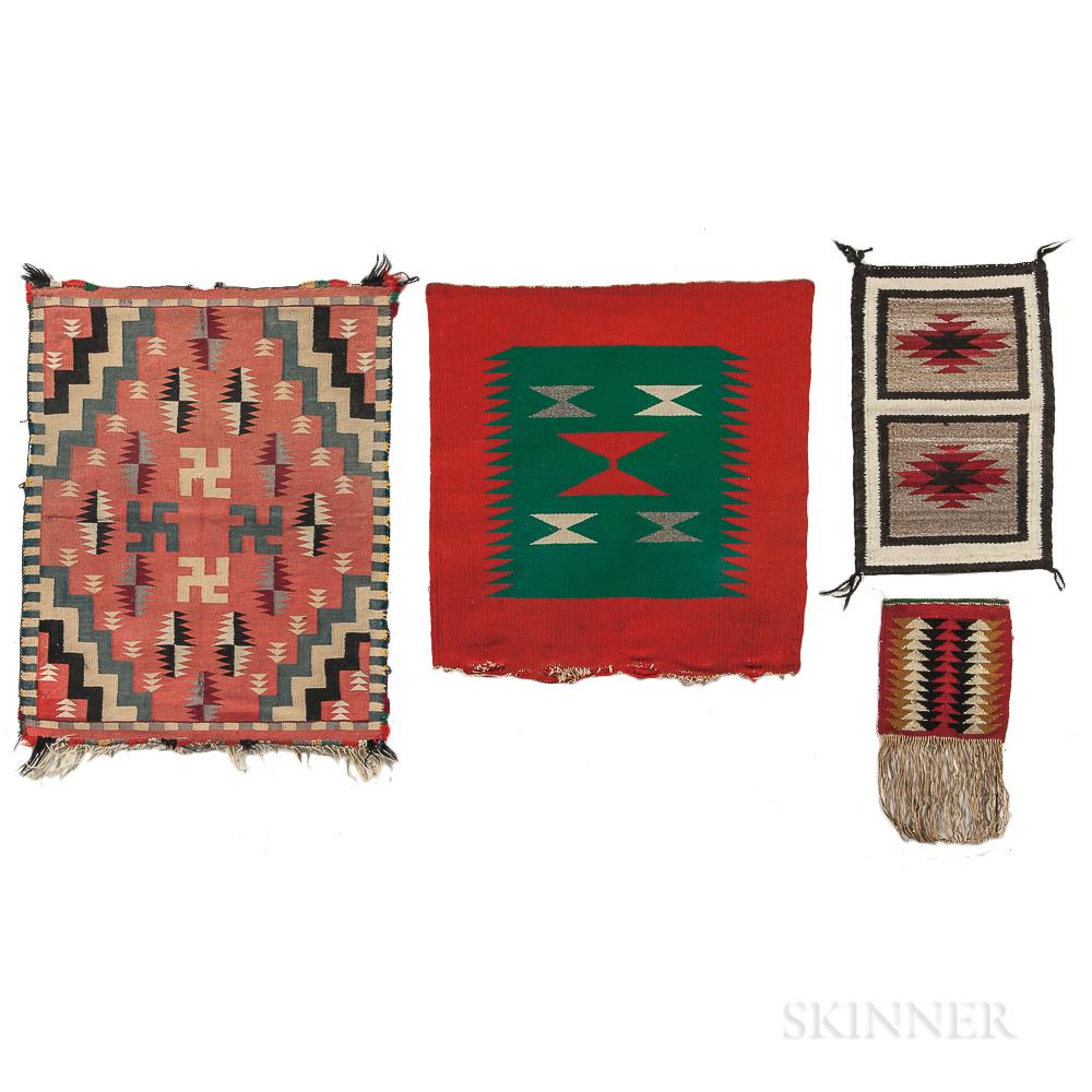 Four Small Navajo Wool Textiles
