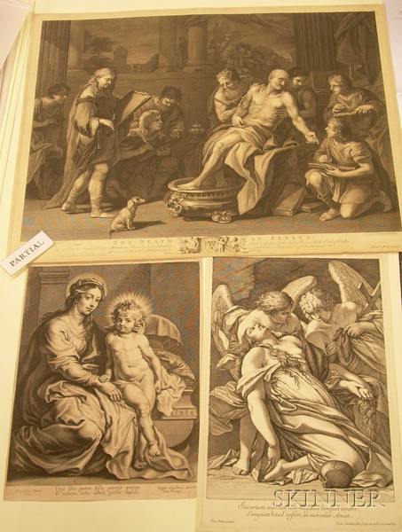 Lot of Forty-five 17th-19th Century French Engravings