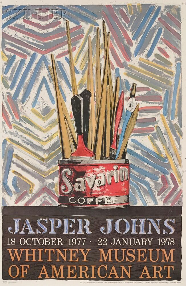 After Jasper Johns (American, b. 1930) (Savarin) Whitney Museum of American...